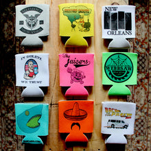 Custom beer can koozies printed by RadCakes in Manasquan New Jersey Shore NJ