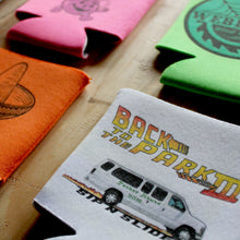 custom beer can koozies for bar crawls and camping, printed by RadCakes Manasquan NJ
