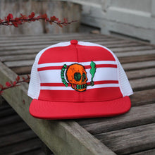 NJ Skull mesh baseball hat (RED)