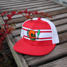NJ Skull mesh baseball hat (RED) - RadCakes Shirt Printing