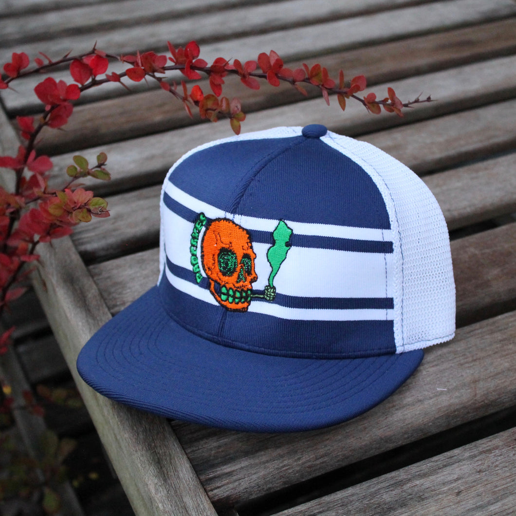 NJ Skull mesh baseball hat (ROYAL BLUE) - RadCakes Shirt Printing