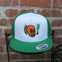 NJ Skull classic mesh trucker hat (KELLY GREEN) - RadCakes Shirt Printing