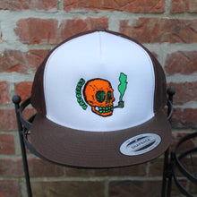 NJ Skull classic mesh trucker hat (BROWN) - RadCakes Shirt Printing