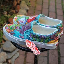 Mermaid themed custom Vans Slip On Sneakers - RadCakes Shirt Printing