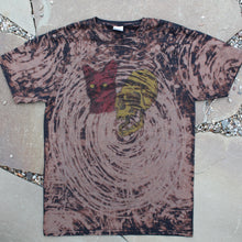 Hand Bleached shirt for sale with Gorilla Skull and Cat Head indie art punk