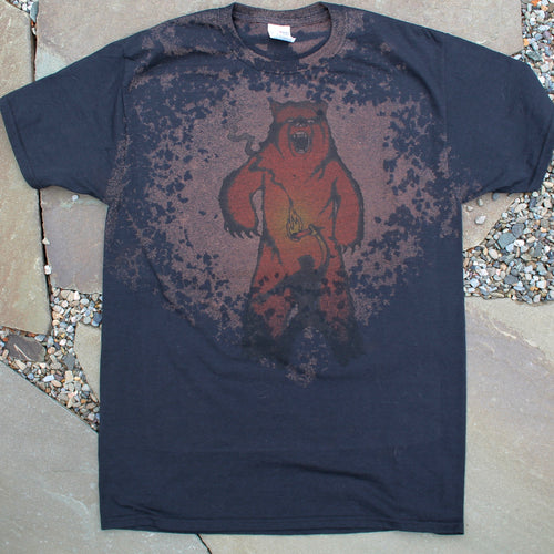 Black bleached Bear shirt Animal Attack design by Radcakes