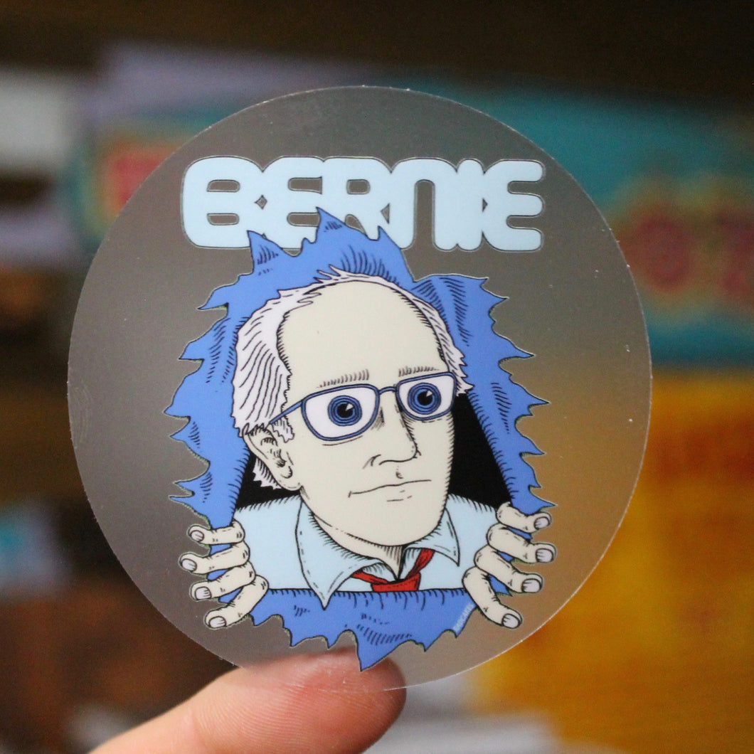 Bernie Sanders sticker 2020 Presidential Campaign merchandise for sale Ripper Skull