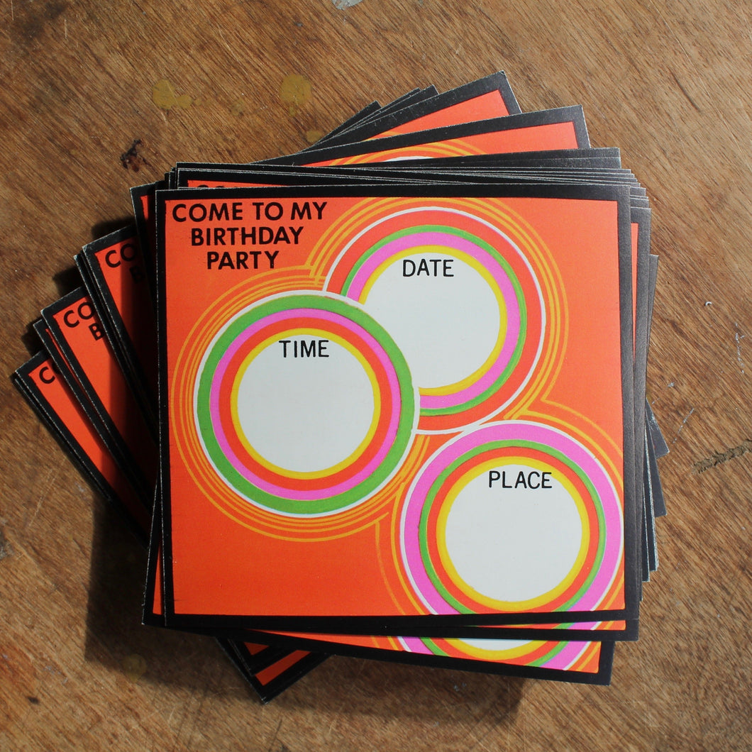Wholesale Birthday Party invites NOS 1960s New Old Stock resale