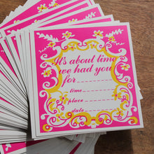 50 Retro 1960's Invitation cards