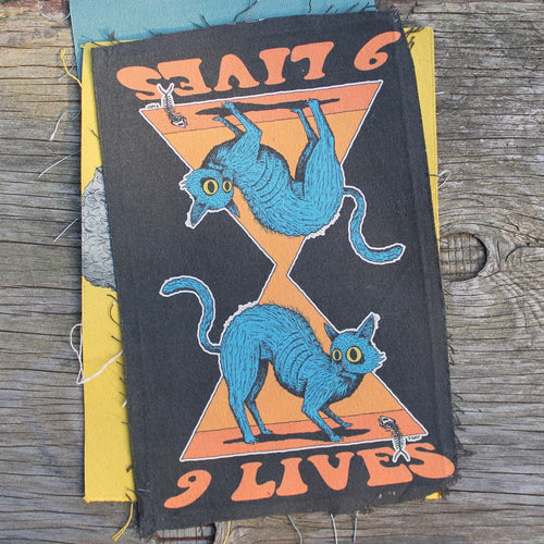Cat punk patch jacket 9 lives