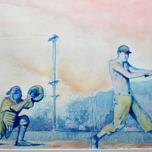 Baseball watercolor for sale by Ryan Wade Manasquan New Jersey artist