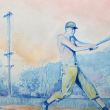 Baseball watercolor for sale by Ryan Wade Radcakes Manasquan NJ