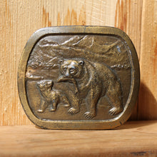 Indiana Metal Works belt buckle Grizzly Bear brass