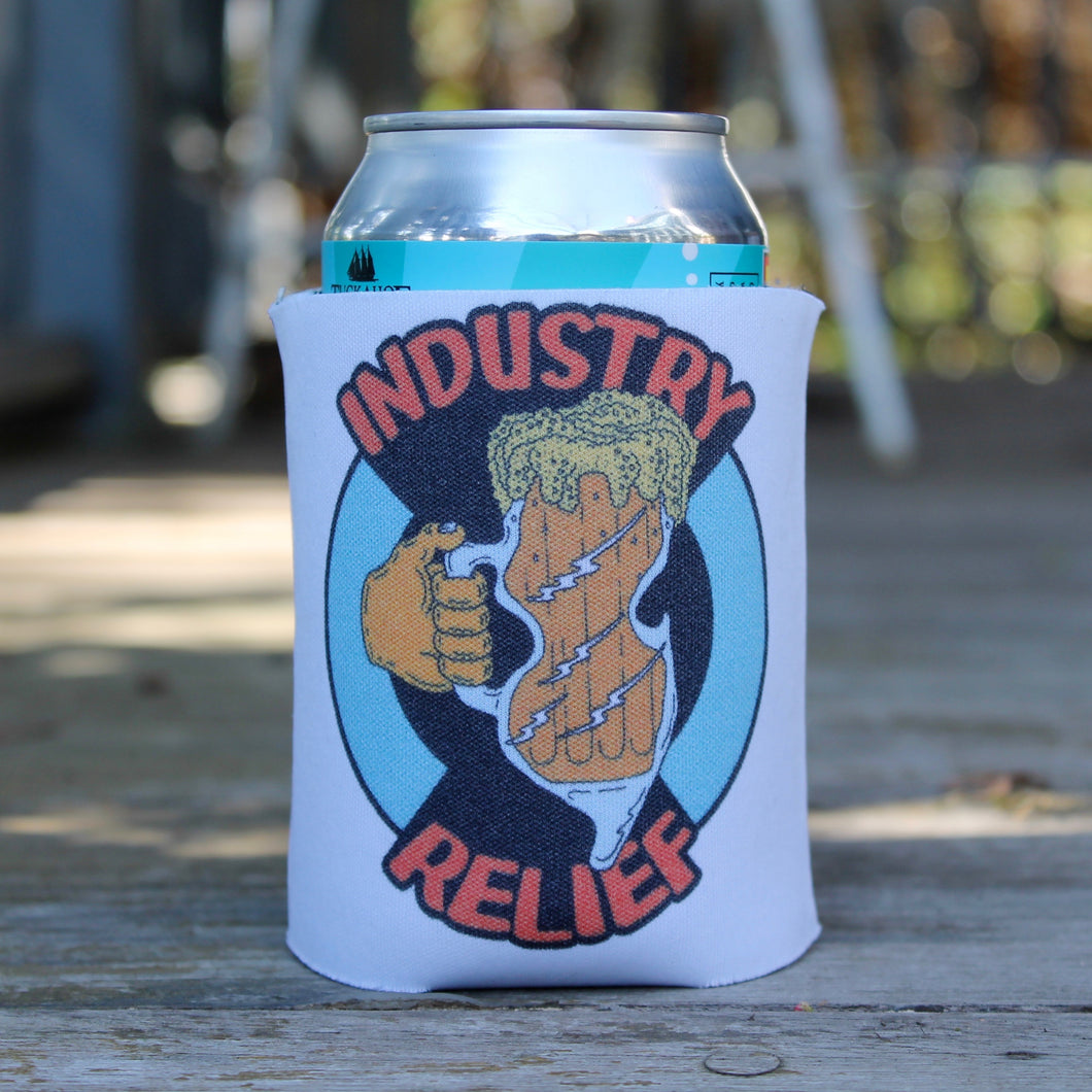 Industry Relief beer koozie NJ Shore Food Service fundraiser