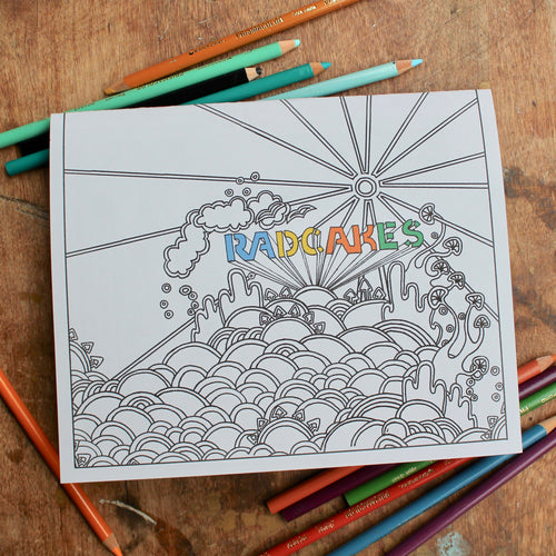 Coloring book by Lauren Dalrymple Wade available for sale at RADCAKES.com