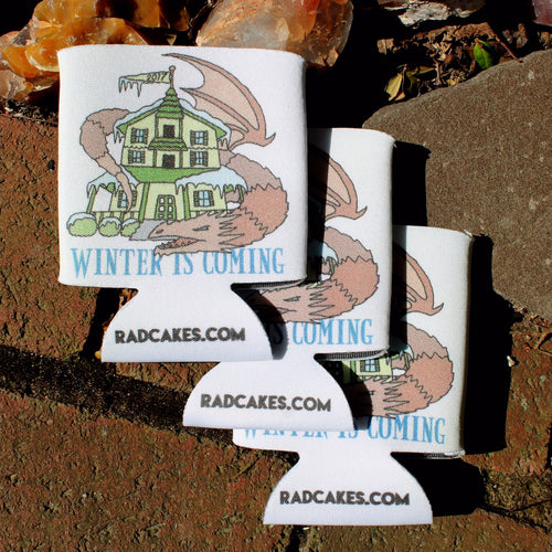 winter is coming parker house koozie radcakes gods basement design