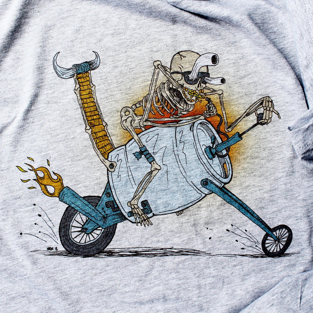 kegerator rat rod rafting shirt art motorcycle cartoon chopper bike gang tshirt