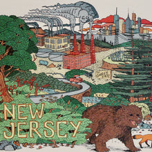 NJ art for sale Greetings from New Jersey postcard illustration Original art by Ryan Wade RAD WAYNE Radcakes