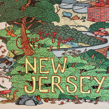 Greetings from New Jersey postcard artwork by Ryan wade for sale at radcakes manasquan nj