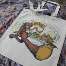 Wooly Mammoth reusable canvas tote bag