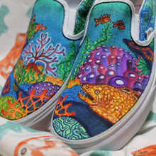 Coral Reef custom Vans Slip On Sneakers