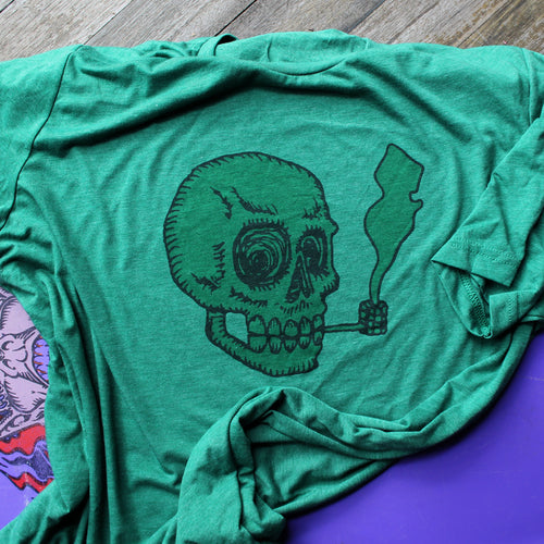 New Jersey Skull shirt with corn cob pipe by RadCakes