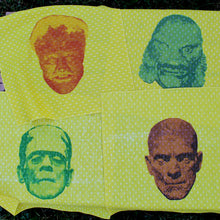 universal monster napkin set vintage napkins new old stock mummy creature from black lagoon frankenstein wolfman