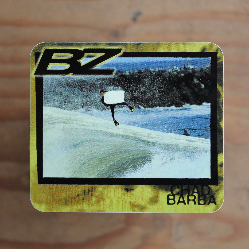 Chad Barba sticker BZ Bodyboard vintage retro The Wedge Viper fins