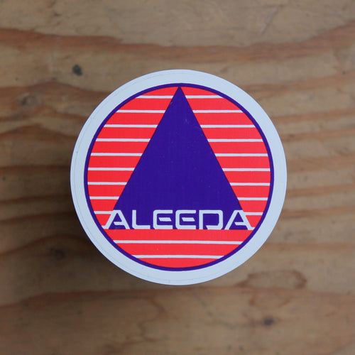 Vintage Aleeda wetsuit surf sticker 1980s surfing style graphic