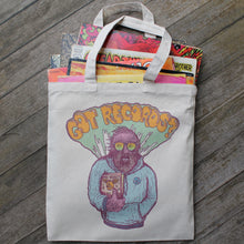 GOT RECORDS? vinyl record tote bag