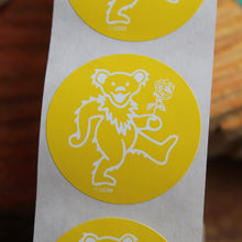 10 Grateful Dead stickers (Yellow Dancing Bear)