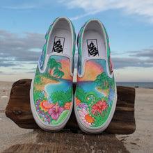 Island Vibes custom Vans Slip On Sneakers