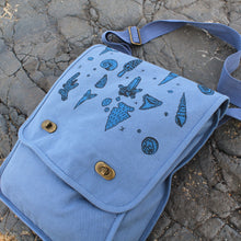 canvas field bag for fossil hunting and beach combing with a metal detector for sale