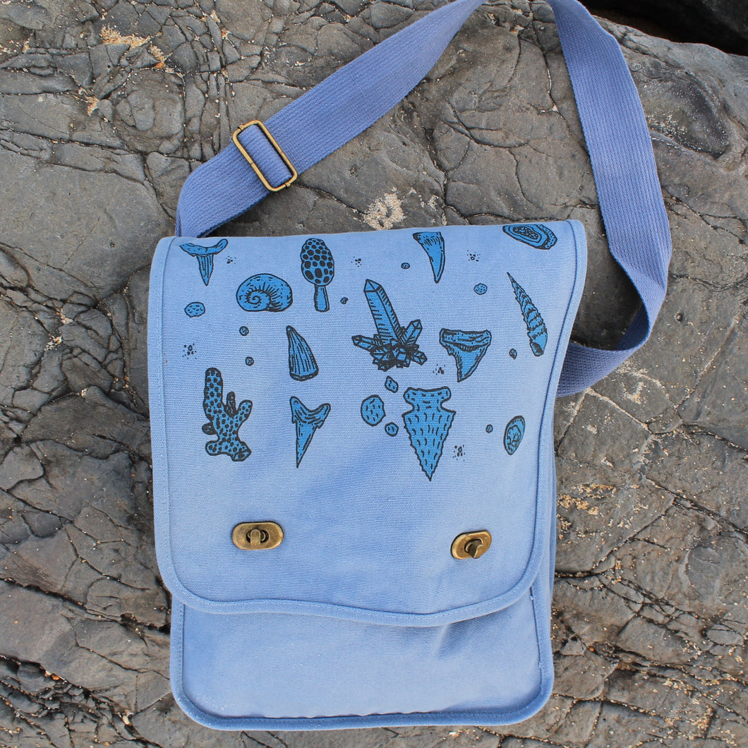 Beach combing bag fossil hunting field bag or artifacts and metal detecting for sale by RADCAKES