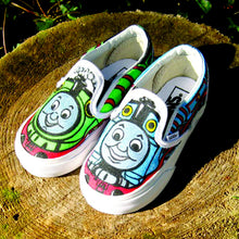 toddler Thomas the Train custom designed Vans classic slip on sneakers gift