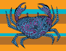 Patterned crab 2017 calendar RadCakes art designs