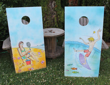 custom corn hole artwork wedding gift 2017 calendar RadCakes art designs