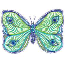 Peacock Butterfly women's tee - RadCakes Shirt Printing