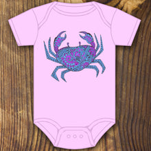 Patterned Crab Onesie - RadCakes Shirt Printing