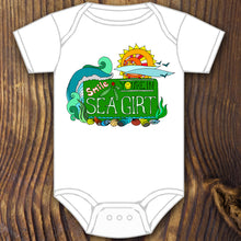 Smile You're in Sea Girt sign baby onesie design by RadCakes printing Rabbit Skins NJ