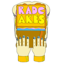 RadCakes screenprint artwork design retro art style peter max john alcorn