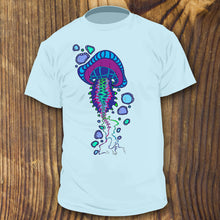 Purple and blue jellyfish shirt design by RadCakes Shirts