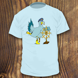 Pirate Sailor Funny Salty Captain Chicken shirt design by RadCakes Shirts