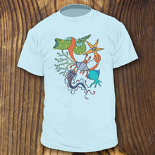 Sea Life Collage shirt - RadCakes Shirt Printing