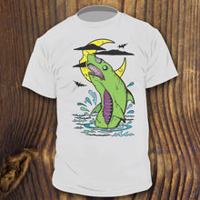 Best Zombie Shark shirt design by RadCakes Shirts Bats and Cheese moon artwork