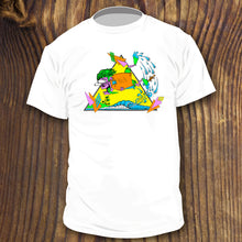 vintage style bodyboarding shirt with 80s colors by RadCakes Manasquan NJ