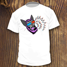 Garage Punk Rock shirt designs by RadCakes bat with beard and 3D glasses