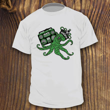 Funny cartoon Octopus shirt design with Boom Box and Crown. Created by RadCakes.