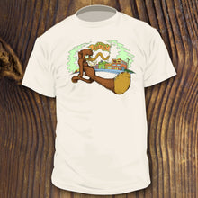 R. Crumb inspired shirt with Wooly Mammoth cartoon design