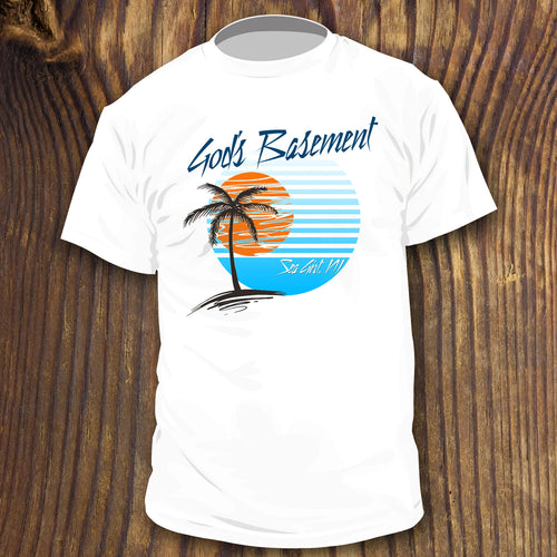 Parker House Sea Girt NJ Retro style God's Basement shirt by RadCakes
